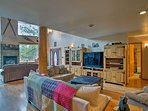This vacation rental cabin boasts nearly 4,000 square feet of living space.