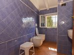 Bathroom with WC, bidet and shower