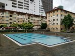 Swimming pool located in front of car park. (Guests must register at the guard house)