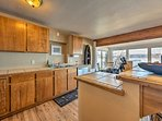 There is no dish too complex for this spacious kitchen.