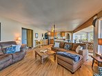 The spacious interior makes the home warm and inviting.