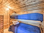 These twin beds are the perfect place to rest after a hike.