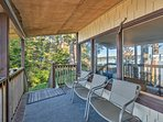 Enjoy the crisp Washington air from the comfort of the deck.