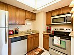 Refrigerator, stove/oven, dishwasher, microwave, coffee pot, toaster, cookware, plates, utensils, etc. available for...