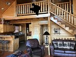Your Mystic Sunrise Cabin has 3 floors and is 1913 square feet plus the deck.