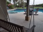...2 person patio swing is the perfect shady place to escape the summer sun...