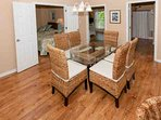 Dining table for 6 with seagrass chairs
