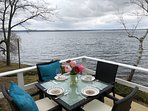 Patio with lake view