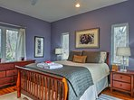 Two lucky guests can claim the master bedroom.
