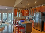 Your chef will love the stainless steel appliances!