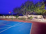 Enjoy the private sports court!