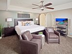 Master suite with HD TV.