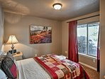Wake up to natural light filling the room.