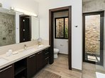 Spacious with Dual Vanities and Private Outdoor Shower