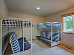 The kids will love spending time in the bunk room!