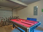 Stay in for a game of billiards, or venture outside on the provided bikes!