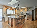 Your chef elect is sure to fall in love with this fully equipped kitchen.