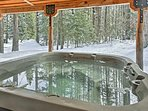 End each alpine adventure with a dip in your private hot tub.