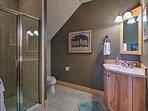 Three bathrooms offer plenty of privacy.