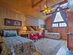 The loft features 2 twin beds.