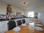 Kitchen /Dining with superb views