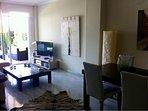 living room open to garden