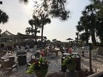 Loggerhead Grill and its restrooms are oceanfront and on your way to the beach. Convenient!