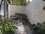 This it the private garden area.