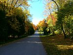Street to the beach in Beautiful Port Albert, Ontario