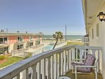 Along with ocean views, this condo offers 2 bedrooms, 1 bath, and room for 6.