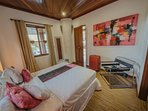 1 of 7 bedrooms - either king/super king or queen sized beds, wardrobe, armchair.
