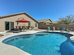 Stay cool in the backyard oasis of this San Tan Valley vacation rental house!