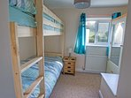 Bedroom 3:  Bunk beds, adult size.