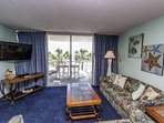 A larger living area than most oceanfront one bedroom units.