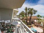 An oceanfront home, perfect for enjoying the beach.