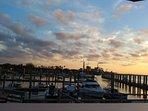 Sunset at Fernandina Harbor Marina at end of Centre St.