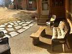 The patio is the perfect place to watch the sun set over the foothills of Pike's Peak