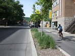 Bicycle path on Rachel street nearby
