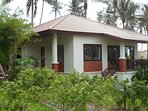 Villa and private parking from outside