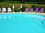 Come on in; the water's lovely! Heated pool with roman steps for easy access - Couetilliiec Cottages