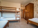 Twin/Quad Bedroom with 2 Single Beds, 1 Bunk Bed