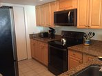 Kitchen with new black stainless LG appliances