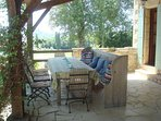 Another view of the terrace, great for hosting or for large families. Barbeque provided