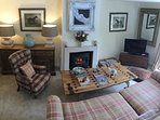Lovely cosy and relaxing sitting room. Filled with Antiques and 19th century paintings.