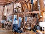 Comfortable, rustic living area