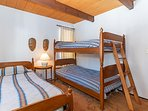 Bedroom 3 includes 1 twin bed and 2 twin bunk beds