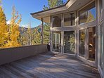 Large deck with a BBQ and breathtaking views of Alpine Meadows