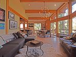 Great views from the family room of beautiful Alpine Meadows