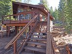 Back deck and walking down to beautiful Alpine Meadows