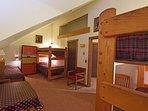 Upstairs kid bedroom, six twin beds